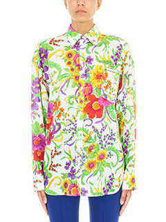 Balenciaga-Camcia Grand Floral Jacquard in seta multicolor