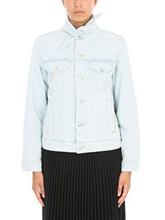 Balenciaga-Denim Scarf jacket