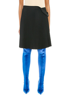 Balenciaga-Gonna top to skirt in cr�pe nera