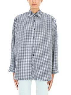 Balenciaga-Pinched collar blend shirt