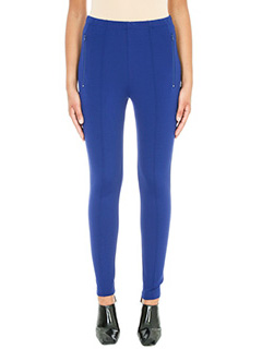 Balenciaga-Panta Leggings in viscosa blue