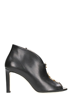 Jimmy Choo-Loma 85 black leather Booties