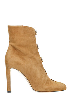 Jimmy Choo-Loretta 100 chestenut Suede Booties