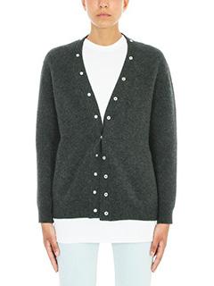 Balenciaga-Convertible stretch wool-blend cardigan