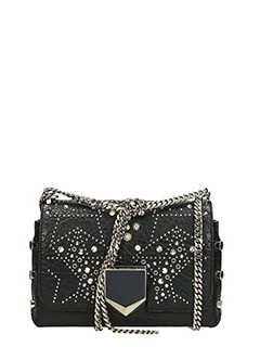 Jimmy Choo-Borsa Lockett Petite in pelle nera