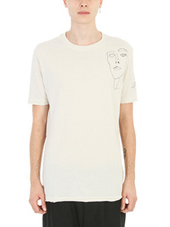 Damir Doma-T-shirt Tayyip in cotone bianco