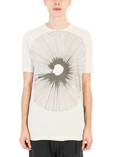 Damir Doma-T-shirt Teal in cotone dust bianco