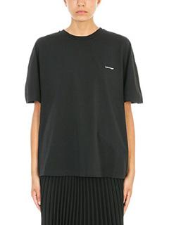 Balenciaga-Black Logo Tshirt