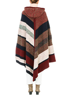 Chloé KNITTED STRIPE HOODED PONCHO 3