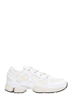 Adidas By Raf Simons-Sneakers Ozweego III in pelle bianca
