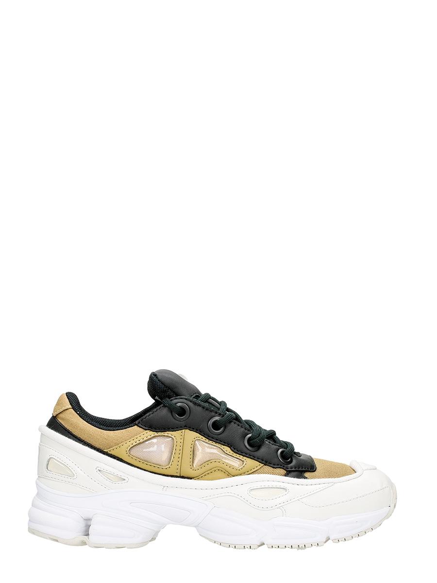Adidas By Raf Simons SNEAKERS OZWEEGO III IN PELLE BIANCA/KHAKI