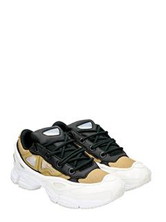 Adidas By Raf Simons SNEAKERS OZWEEGO III IN PELLE BIANCA/KHAKI 2