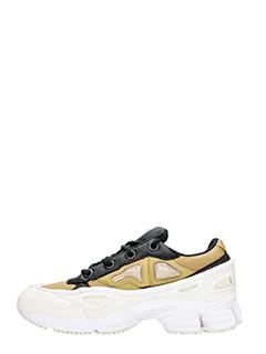 Adidas By Raf Simons SNEAKERS OZWEEGO III IN PELLE BIANCA/KHAKI 3