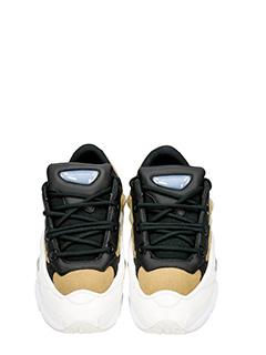 Adidas By Raf Simons SNEAKERS OZWEEGO III IN PELLE BIANCA/KHAKI 4