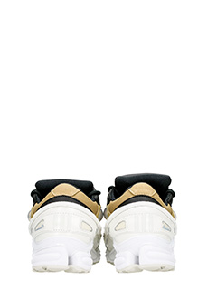 Adidas By Raf Simons SNEAKERS OZWEEGO III IN PELLE BIANCA/KHAKI 5