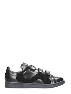 Adidas By Raf Simons-Sneakers Stan Smith Confort in pelle e ciniglia nera