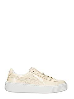 Puma-Sneakers Platform Basket in vernice beige