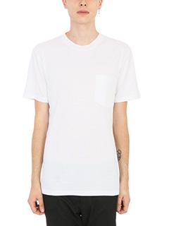 Lanvin-T-shirt Pocket in cotone bianco