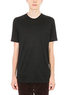 Lanvin-T-shirt Pocket in cotone nero