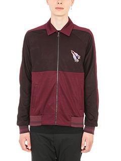 Lanvin-giacca bicolore rosso e marrone