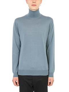 Lanvin-Maglia Dolcevita in lana light blu