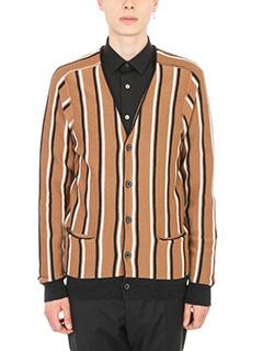 Lanvin-Cardigan Stripes in lana cammello