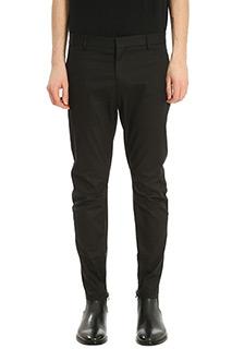 Lanvin-Motorcycle black cotton pants