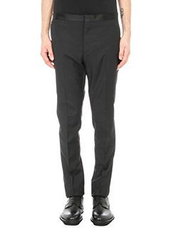 Lanvin-Pantalone classico in lana nera