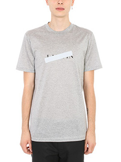 Lanvin-T-shirt stampa Lanvin in cotone grigio