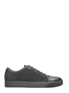 Lanvin-Sneakers in pelle scamosciata grigia