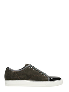 Lanvin-Sneakers Low Top in camoscio grigio