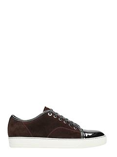 Lanvin-Sneakers Toe Cap in camoscio viola scuro