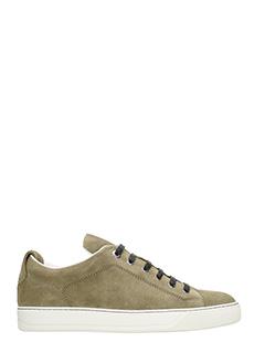 Lanvin-Sneakers Low Top in nabuk Khaki chiaro