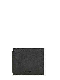 Lanvin-portafoglio 6 carte in pelle nera