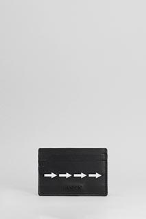 Lanvin-Portafoglio Arrows in pelle nera