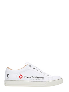 Lanvin-Sneakers There is Nothing in pelle bianca