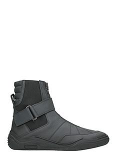 Lanvin-Sneakers Diving in pelle nera