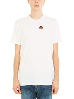 Lanvin-T-shirt Patch in cotone bianco