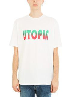 Lanvin-T-shirt Utopia in cotone bianco