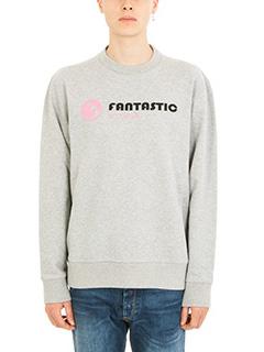 Lanvin-Felpa Fantastic Utopia in cotone grigio