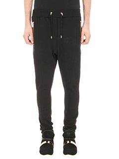 Balmain-Jogging black jersey pants