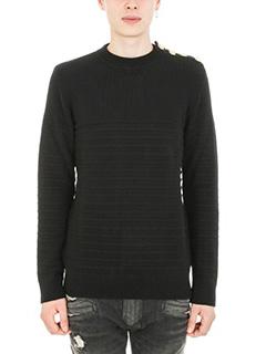 Balmain-Marine black wool sweater