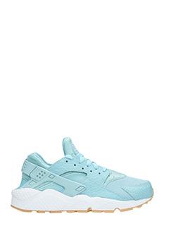 Nike-Sneakers Huarache in pelle e camoscio azzurro