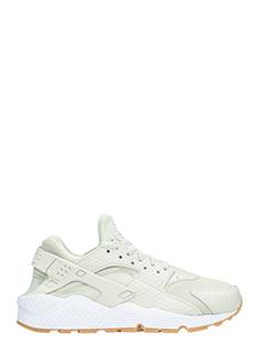 Nike-Sneakers Huarache in pelle e camoscio beige