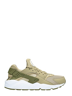 Nike-Sneakers Huarache in pelle e camoscio khaki