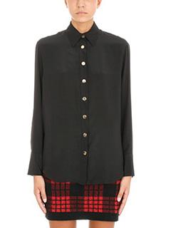 Balmain-Camicia in seta nera