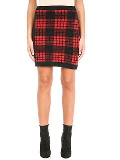 Balmain-plaid high waist skirt