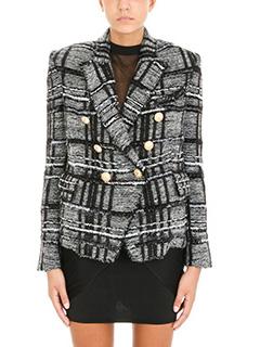 Balmain-Blazer in lana grigia