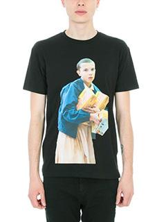 IH NOM UH NIT-T-shirt Leggo in cotone nero