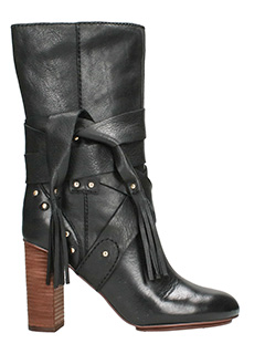 See by Chloé-Black Leather Boots